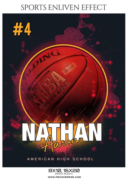 Nathan Aaron - Basketball Sports Enliven Effect Photography Template