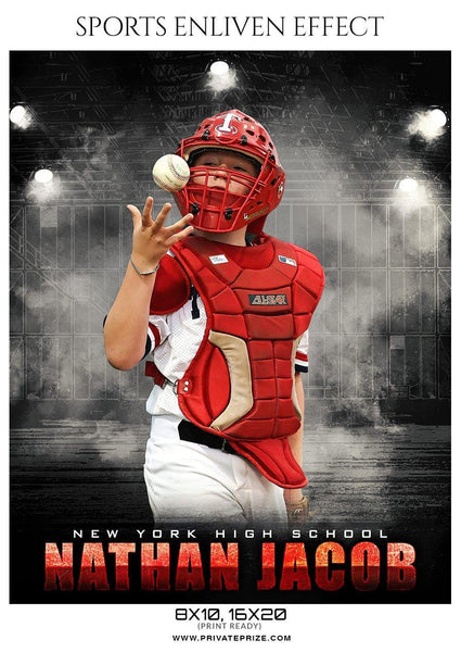 Nathan Jacob - Baseball Sports Enliven Effect Photography Template