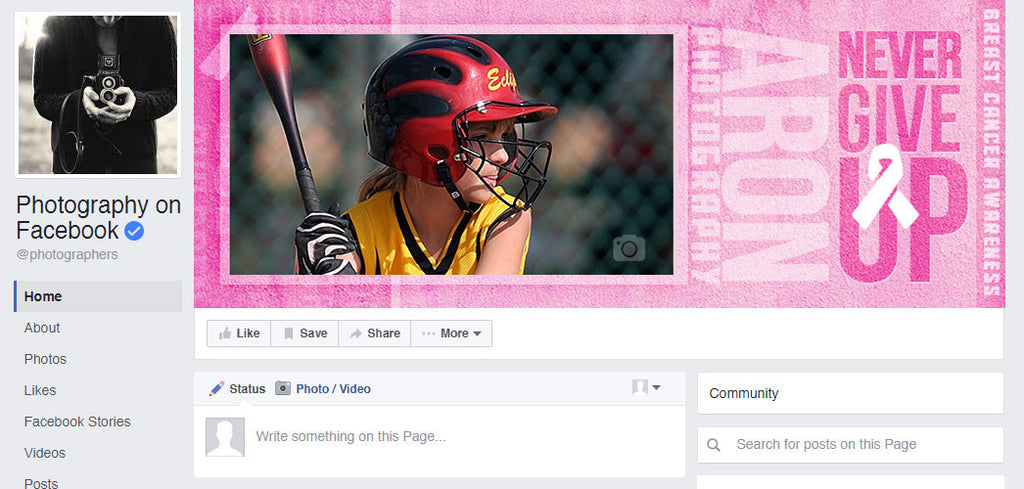 Facebook Timeline Cover Cancer Awareness (Never Give UP) - Photography Photoshop Templates