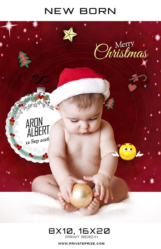 New Born Christmas Background Aron Albert - Photography Photoshop Template
