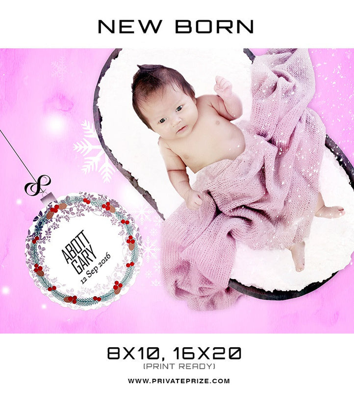 New Born Christmas Background Abot Garry - Photography Photoshop Template