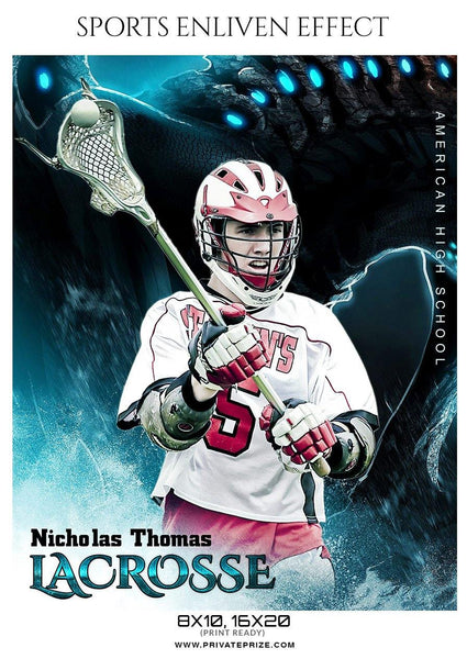 Nicholas Thomas - Lacrosse Sports Enliven Effects Photography Template