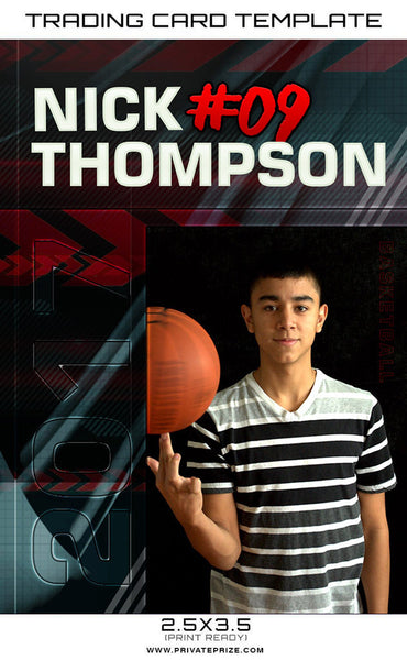 Nick Thomson Sports Trading Card Template - Photography Photoshop Templates