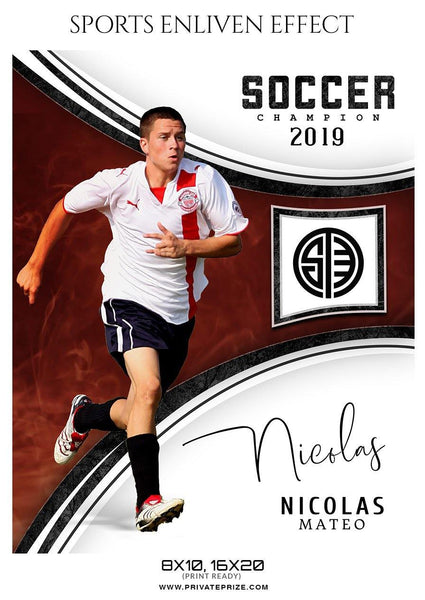 Nicolas Mate - Soccer Sports Enliven Effects Photography Template