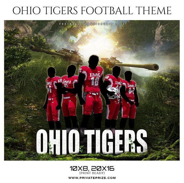 Ohio Tigers - Football Themed Sports Photography Template
