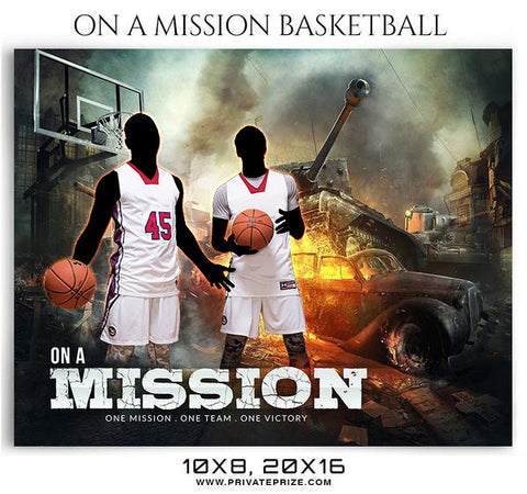 On a Mission Basketball Themed Sports Photography Template