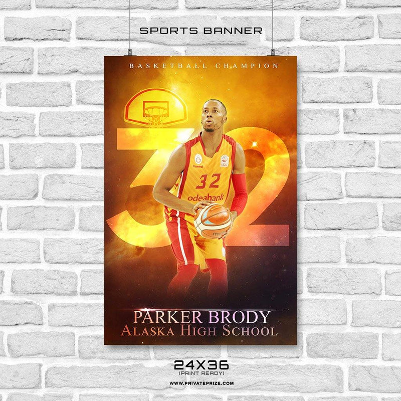 Parker Brody - Basketball Sports Banner Photoshop Template