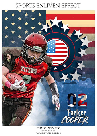 Parker Copper - Football Sports Enliven Effects Photography Template