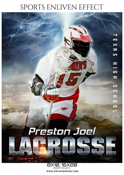 Preston Joel - Lacrosse Sports Enliven Effects Photography Template