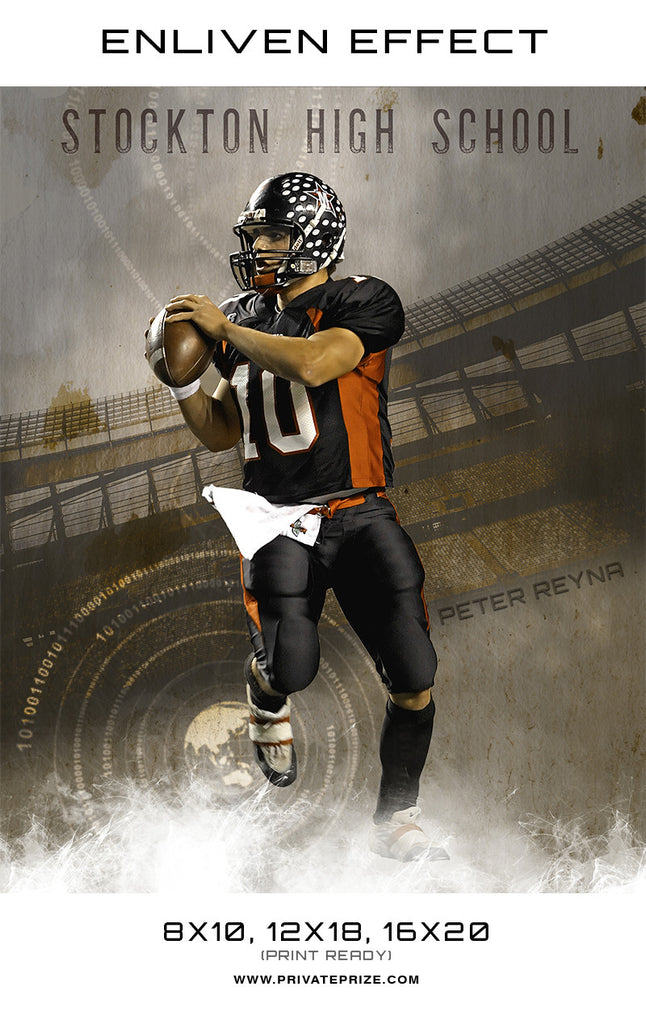 Peter Stockton High School Sports- Enliven Effects - Photography Photoshop Templates