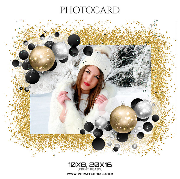 Christmas - Photo card - Photography Photoshop Template