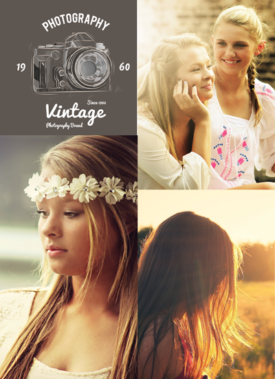 Vintage Photography Session Flyer Template for Photographers - Photography Photoshop Templates