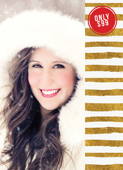 Winter Mini Session Flyer Template for Photographers - Photography Photoshop Templates