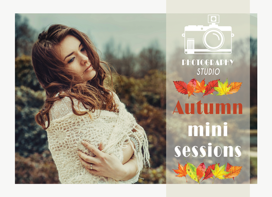 Autumn Mini Session Flyer Template for Photographers - Photography Photoshop Templates