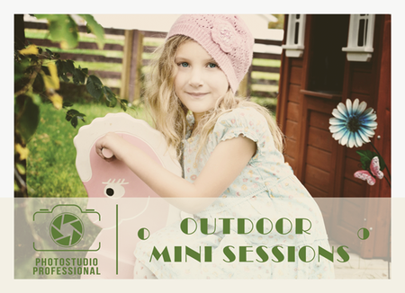 Outdoor Mini Session Flyer Template for Photographers - Photography Photoshop Templates
