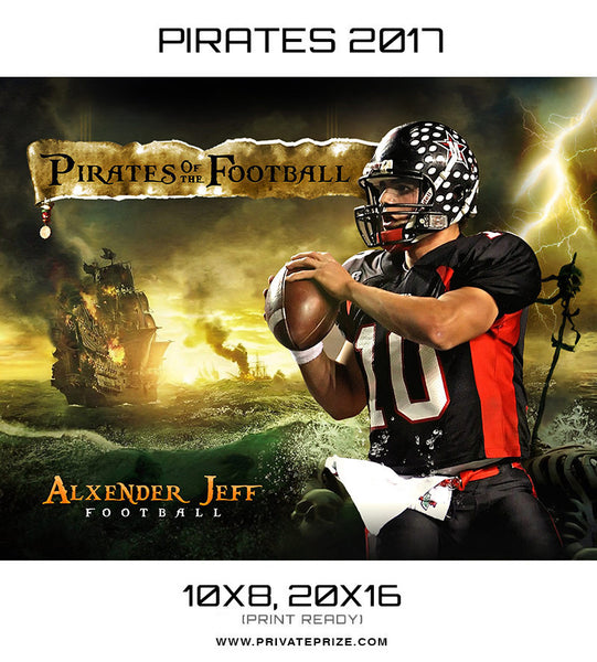Pirates of the Football 2017 Alxender Jeff Themed Sports Template - Photography Photoshop Templates