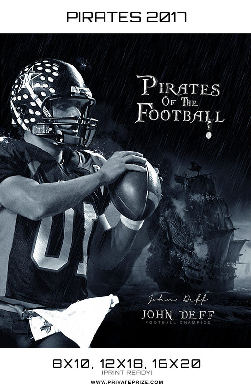Pirates of the Football 2017 John Deff Themed Sports Template - Photography Photoshop Template