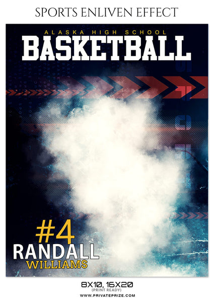 RANDALL WILLIAMS BASKETBALL- SPORTS ENLIVEN EFFECT - Photography Photoshop Template