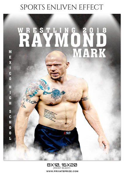 RAYMOND-MARK WRESTLING - SPORTS ENLIVEN EFFECT - Photography Photoshop Template