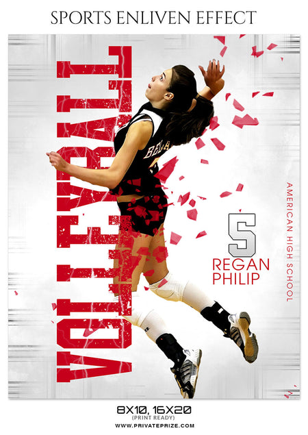 REGAN PHILIP-VOLLEYBALL- SPORTS ENLIVEN EFFECT - Photography Photoshop Template