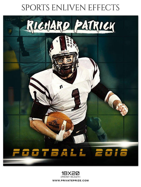 Richard Patrick - Football Sports Enliven Effect Photography Template - Photography Photoshop Template