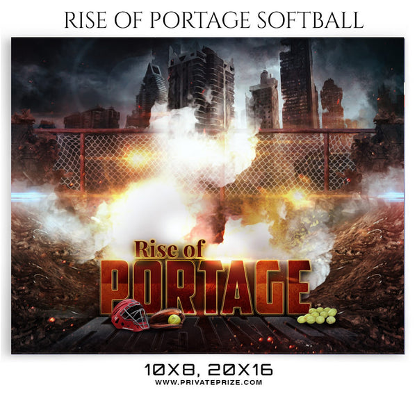 Rise Of Portage Softball Themed Sports Photography Template