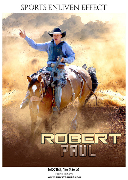 ROBERT PAUL-RODEO- SPORTS ENLIVEN EFFECTS - Photography Photoshop Template