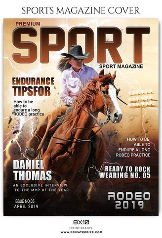 Rodeo- Sports Photography Magazine Cover templates