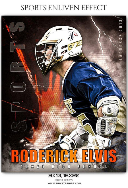 Roderick Elvis - Lacrosse Sports Enliven Effects Photography Template - Photography Photoshop Template