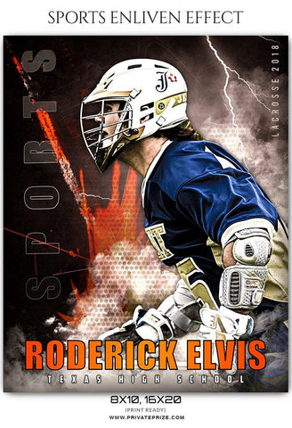 Roderick Elvis - Lacrosse Sports Enliven Effects Photography Template
