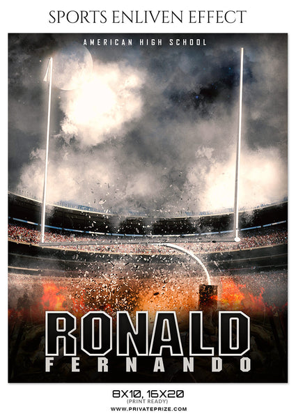 RONALD FERNANDO FOOTBALL - SPORTS ENLIVEN EFFECT - Photography Photoshop Template