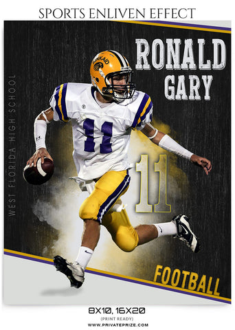 Ronald Gary Football-Sports Enliven Effect