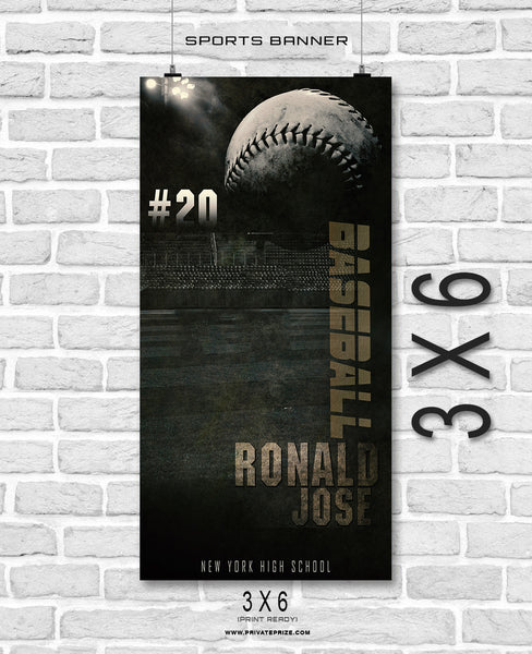 Ronald Jose- Baseball- Enliven Effects Sports Banner Photoshop Template - Photography Photoshop Template