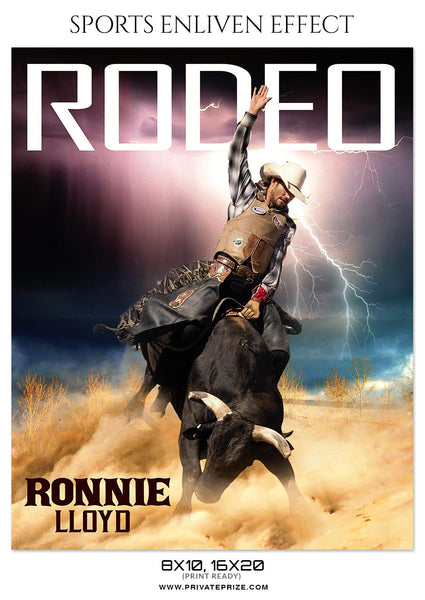RONNIE-LLOYD-RODEO - SPORTS ENLIVEN EFFECT - Photography Photoshop Template