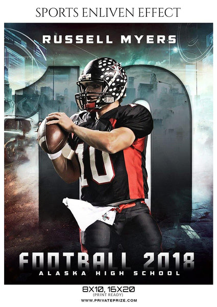 Russell Myers - Football Sports Enliven Effects Photography Template