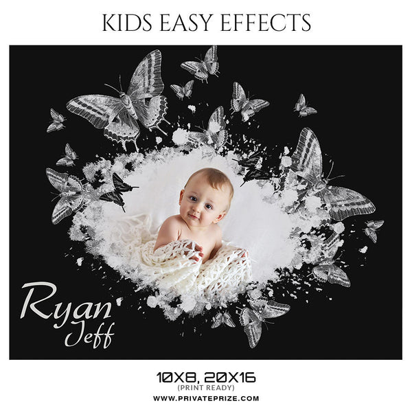 KIDS - EASY EFFECTS - Photography Photoshop Template