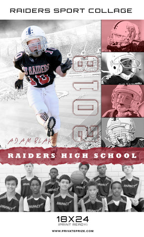 Raiders Sports - Enliven Effect - Photography Photoshop Templates