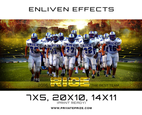 Rice Team Football - Enliven Effects