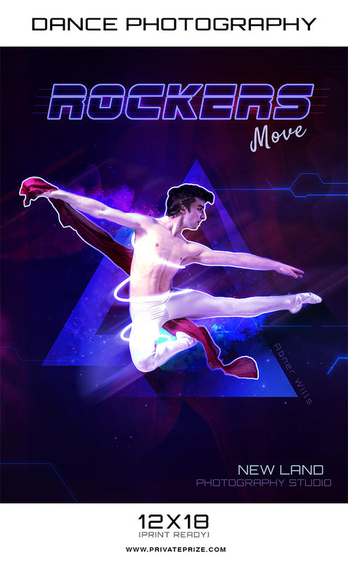Rockers Dance Photography - Enliven Effects Photoshop Template - Photography Photoshop Templates