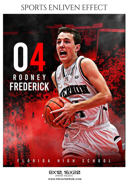 Rodney Frederick - Basketball Sports Enliven Effect Photography Template