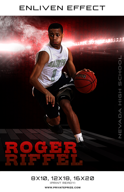 Roger Nevada High School Basketball Sports Template