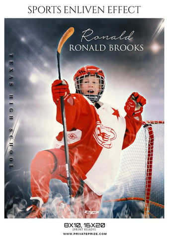 Ronald Brooks - Ice Hockey - Sports Photography Template