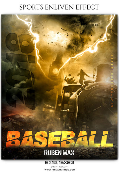 Ruben Max - Baseball Sports Enliven Effects Photoshop Template