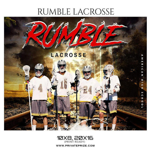 Rumble - Lacrosse Themed Sports Photography Template