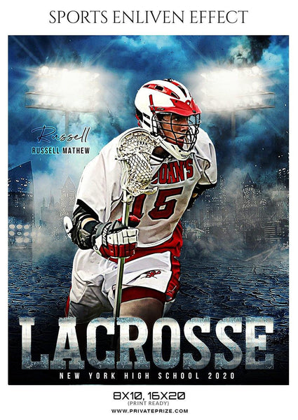 Russell Mathew - Lacrosse Sports Enliven Effects Photography Template