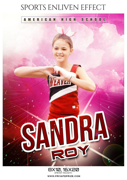 Sandra Roy - Cheerleader Sports Photography Template