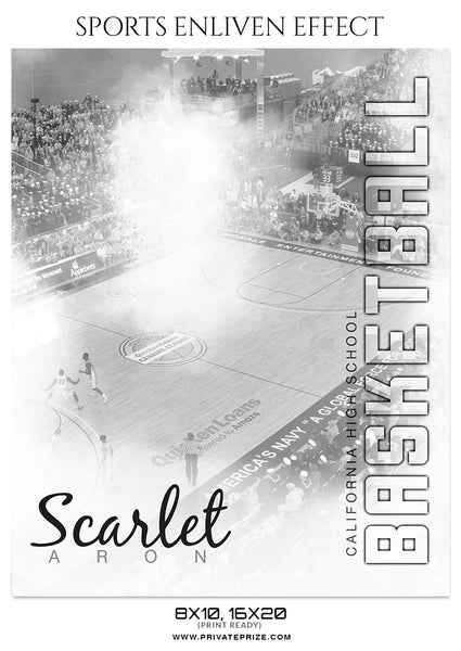 Scarlet Aron - Basketball Enliven Effect Photography Template - Photography Photoshop Template