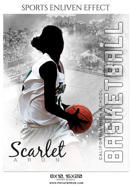 Scarlet Aron - Basketball Enliven Effect Photography Template