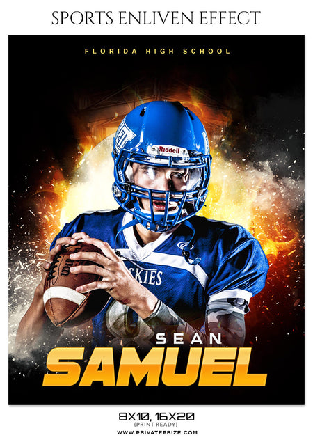 SEAN SAMUEL - FOOTBALL SPORTS PHOTOGRAPHY - Photography Photoshop Template