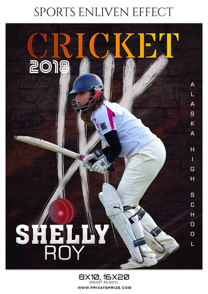 SHELLY ROY - CRICKET SPORTS PHOTOGRAPHY - Photography Photoshop Template